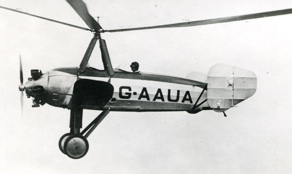 CIERVA. - C.19, G-AAUA, flying.
