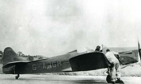 CURTISS. - Hawk Trainer 3, G-AJGM, Redhill.