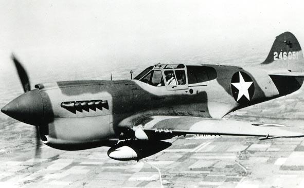 CURTISS. - P.40K, 246051, USAAF, air to air.
