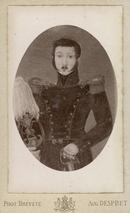 DESPRET, AUG. - Portrait of a soldier (Royal Garde?).