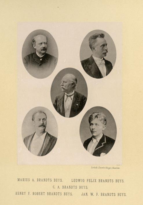 DEUTMANN & ZN. - Portrait of Marius A. Brandts Buys, Ludwig Felix Brandts Buys, C. A. Brandts Buys, Henry F. Robert Brandts Buys & Jan W. F. Brandts Buys, photographed by Deutmann & Zn., Amsterdam.