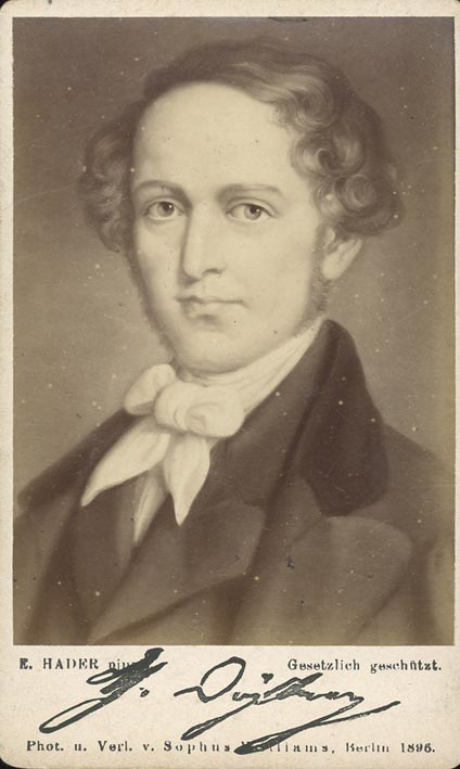 DÖHLER, THEODOR. - Portrait, by Ernst Hader, pinxit, photographed by Sophus Williams.
