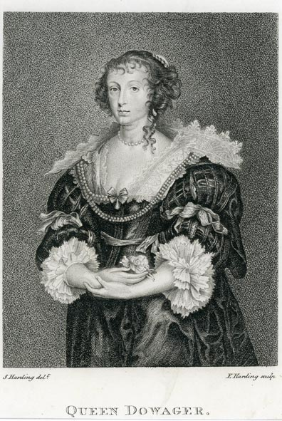 DOWAGER, QUEEN. - Portrait engraving of Queen Dowager.