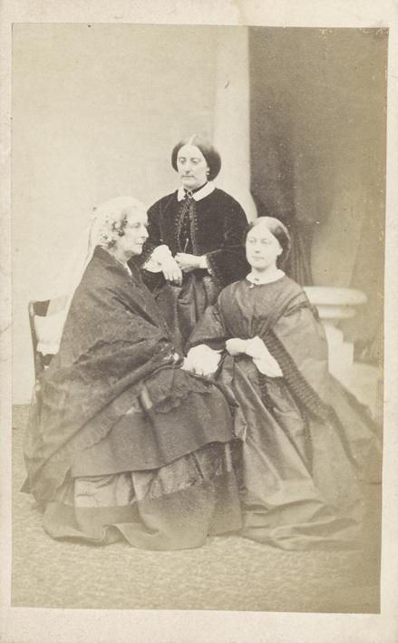 EARL, F. C. - Portrait of a three Victorian women.