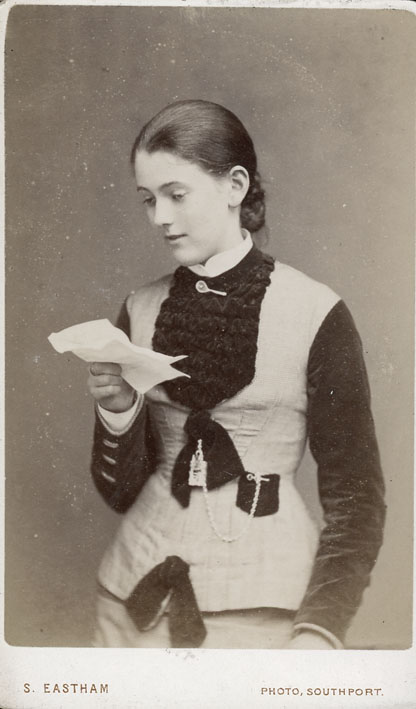 EASTHAM, S. - Portrait of a young woman reading a letter.