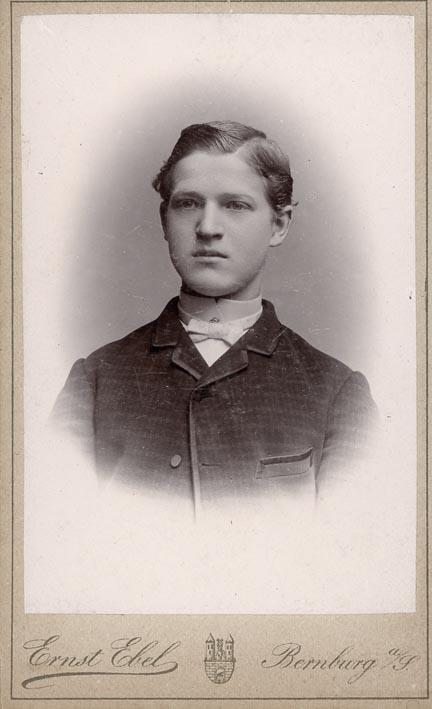 EBEL, ERNST. - Portrait of a boy.