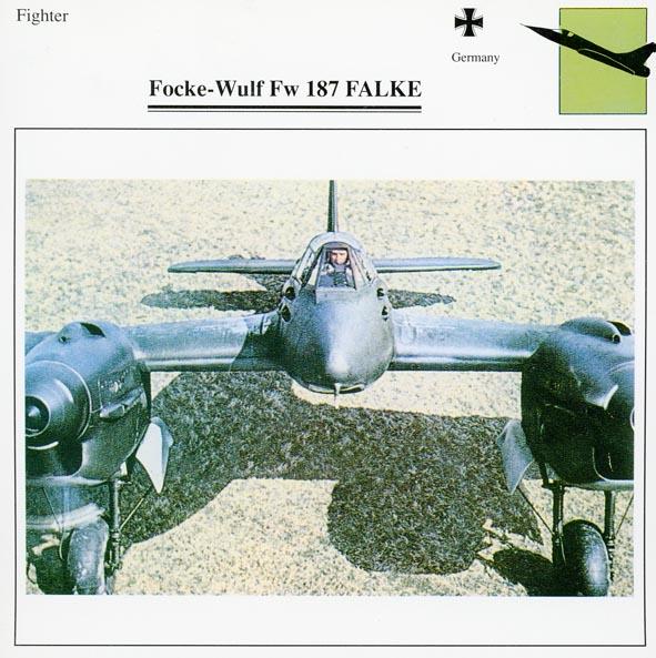 FOCKE-WULF. - Fw 187A-0 Falke.