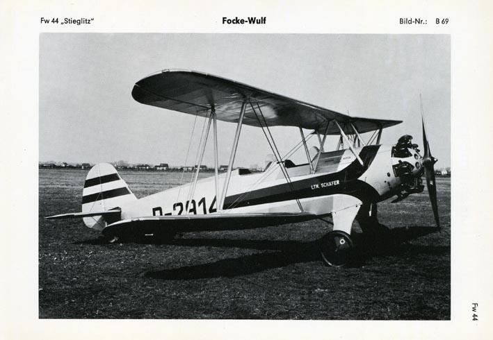 FOCKE-WULF. - Fw 44, D-2914,