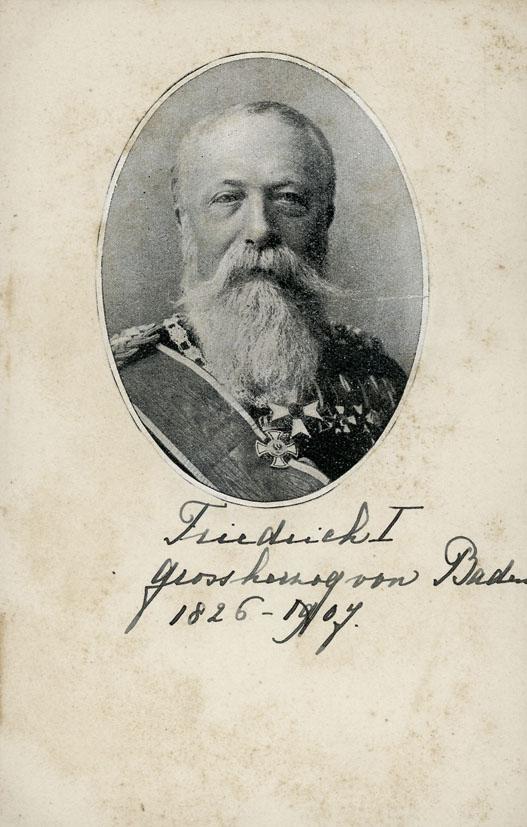 FRIEDRICH, GROSSHERZOG. - Portrait of Grossherzog Friedrich I von Baden.